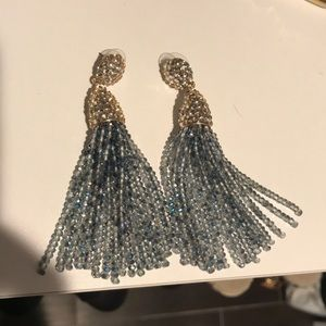 Beaded tassel earrings bauble bar
